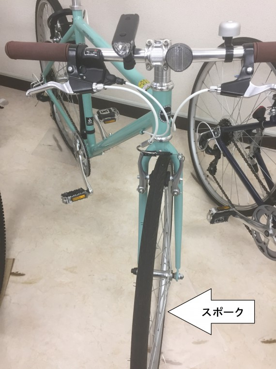 ロードバイクに寄りのクロスバイクタイヤ画像