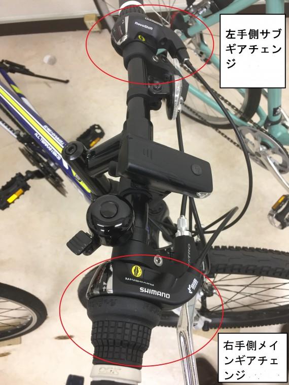 マウンテンバイクギアチェンジ画像
