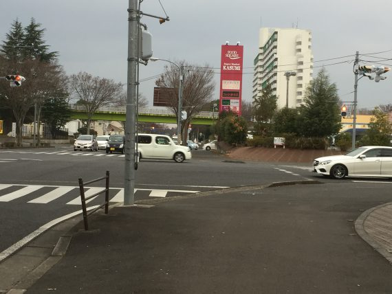 赤坂公園と赤坂消防署の交差点画像